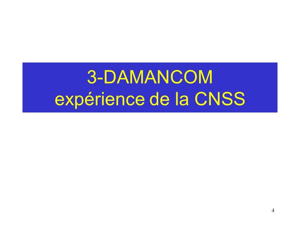 3-DAMANCOM expérience de la CNSS