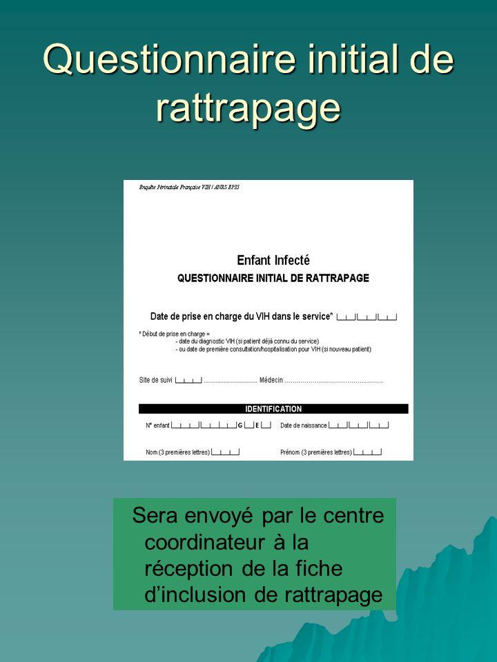 Questionnaire initial de rattrapage