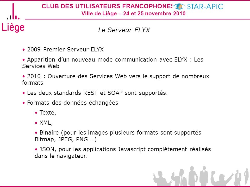 Le Serveur ELYX 2009 Premier Serveur ELYX