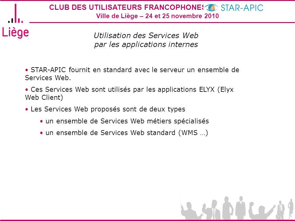 Utilisation des Services Web par les applications internes
