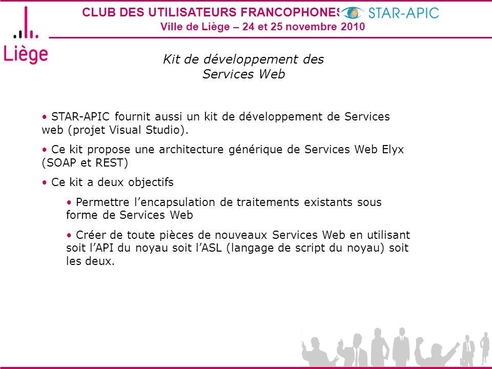 Kit de développement des Services Web