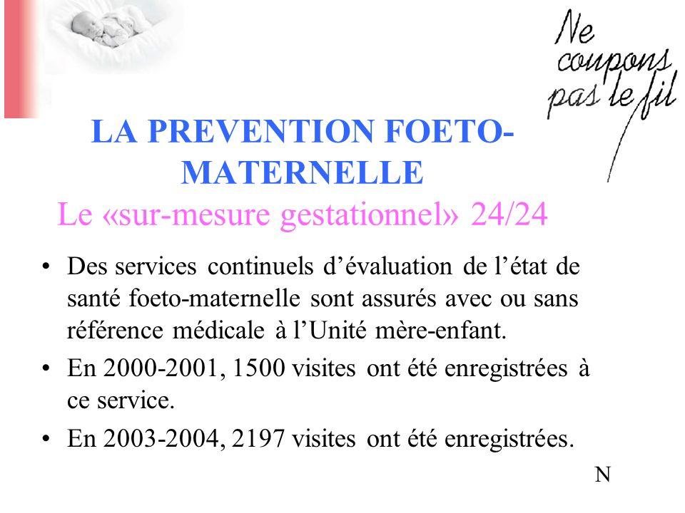 LA PRÉVENTION FOETO-MATERNELLE Le «sur-mesure gestationnel» 24/24