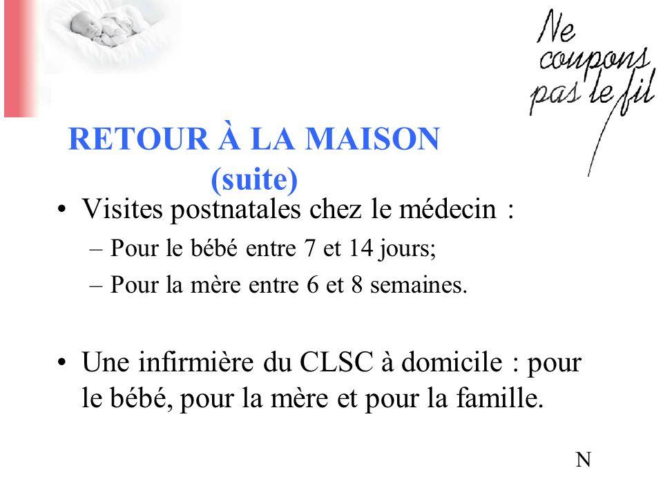 RETOUR À LA MAISON (suite)