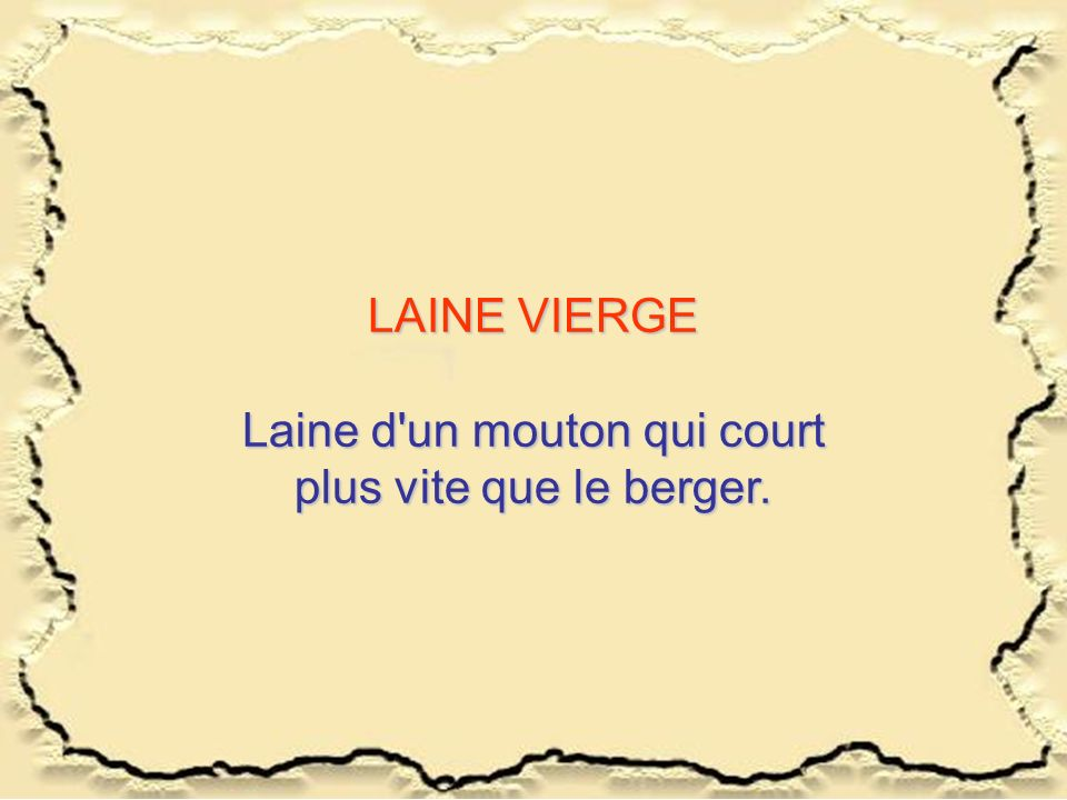 Laine d un mouton qui court plus vite que le berger.