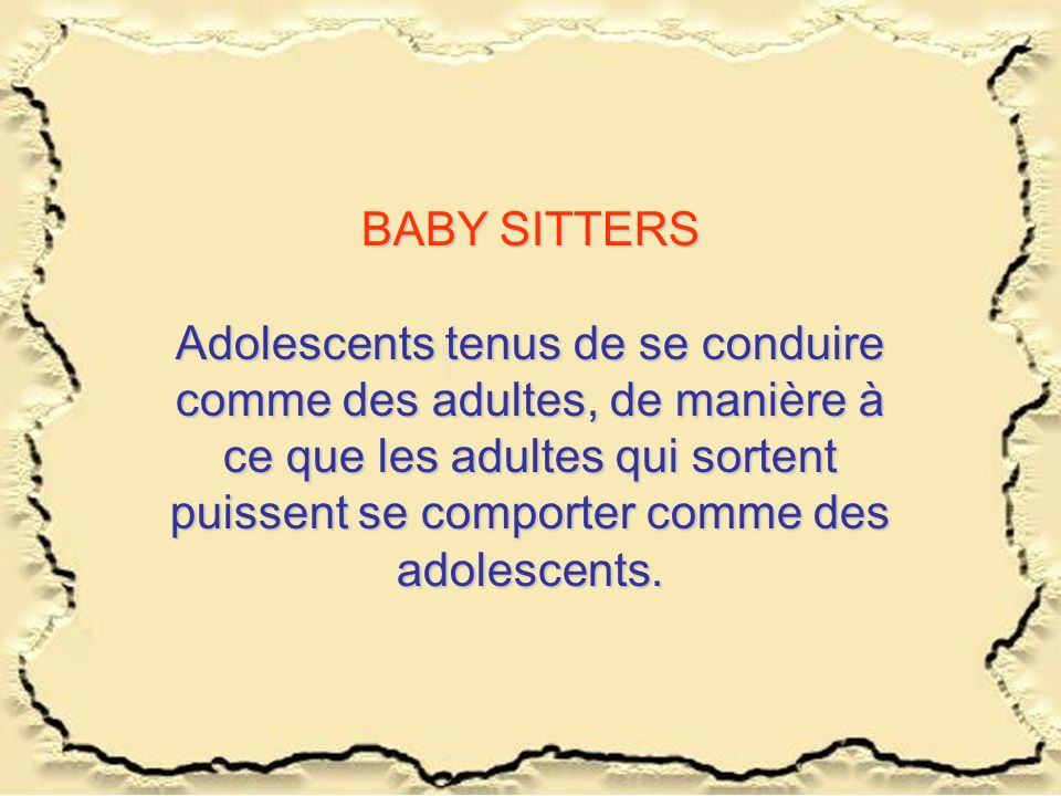 BABY SITTERS