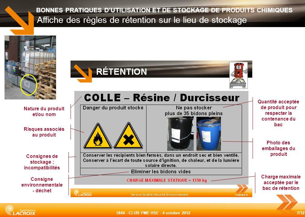 Affiche des règles de rétention sur le lieu de stockage