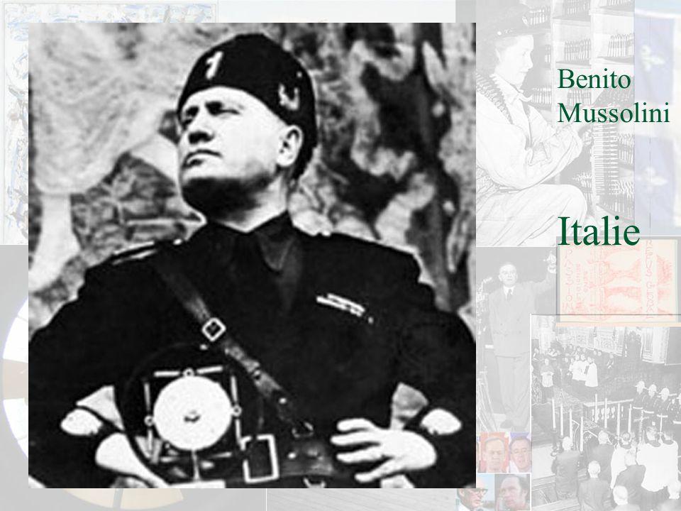 Benito Mussolini Italie