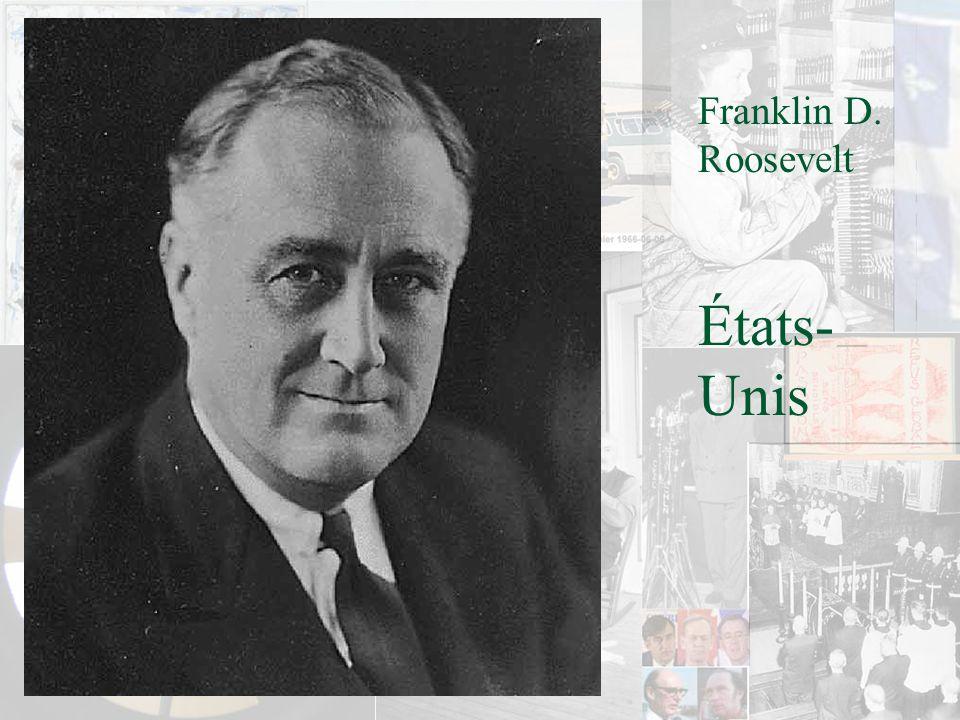 Franklin D. Roosevelt États-Unis