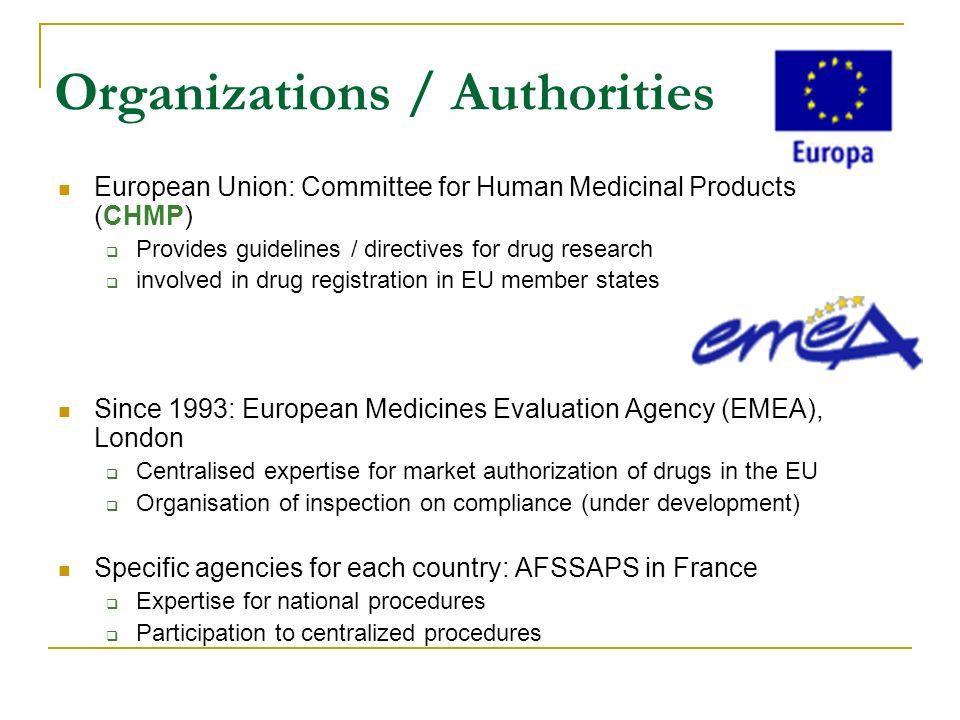Organizations / Authorities