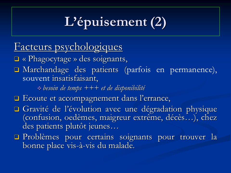 L'épuisement (2) Facteurs psychologiques