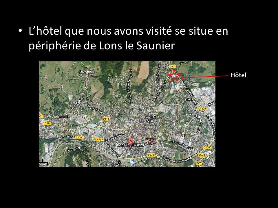 L'hôtel que nous avons visité se situe en périphérie de Lons le Saunier