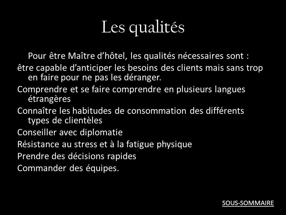 Les qualités