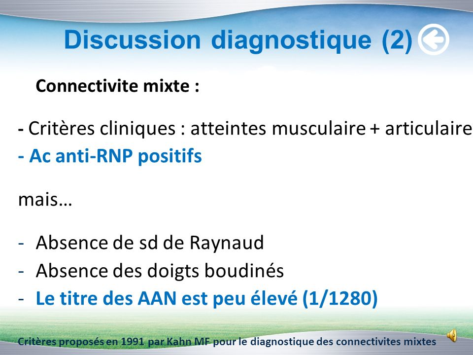 Discussion diagnostique (2)