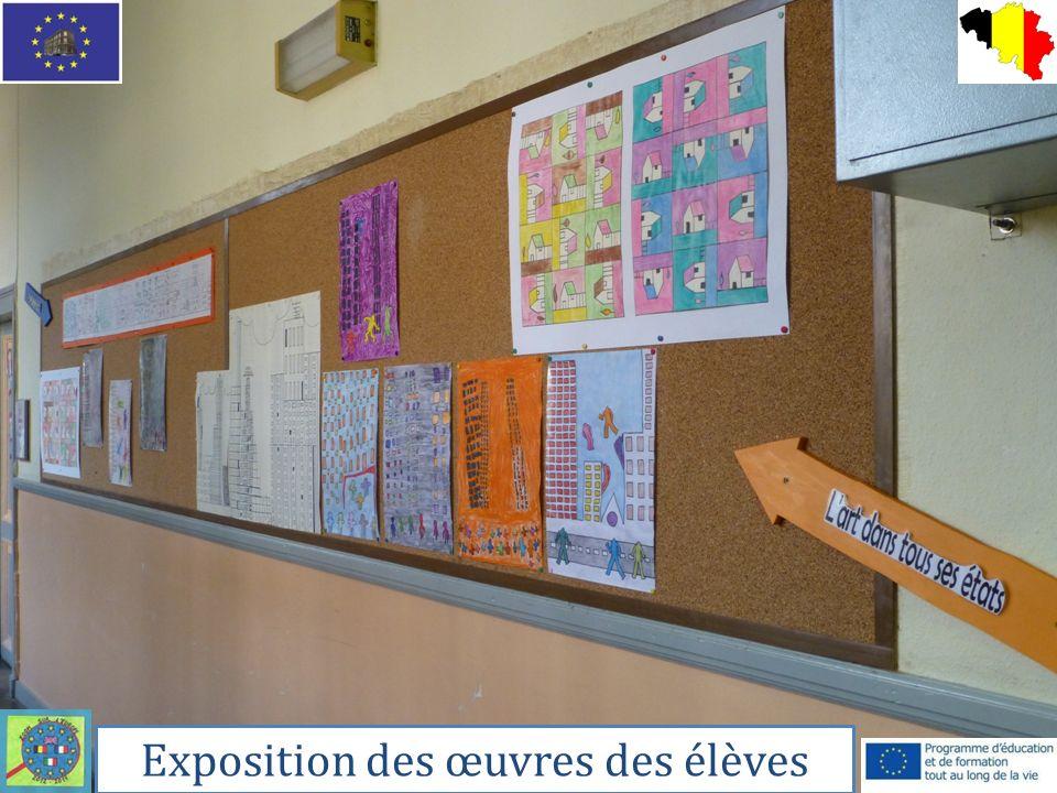 Exposition des œuvres des élèves