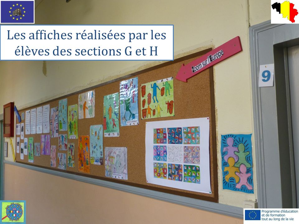 Les affiches réalisées par les élèves des sections G et H
