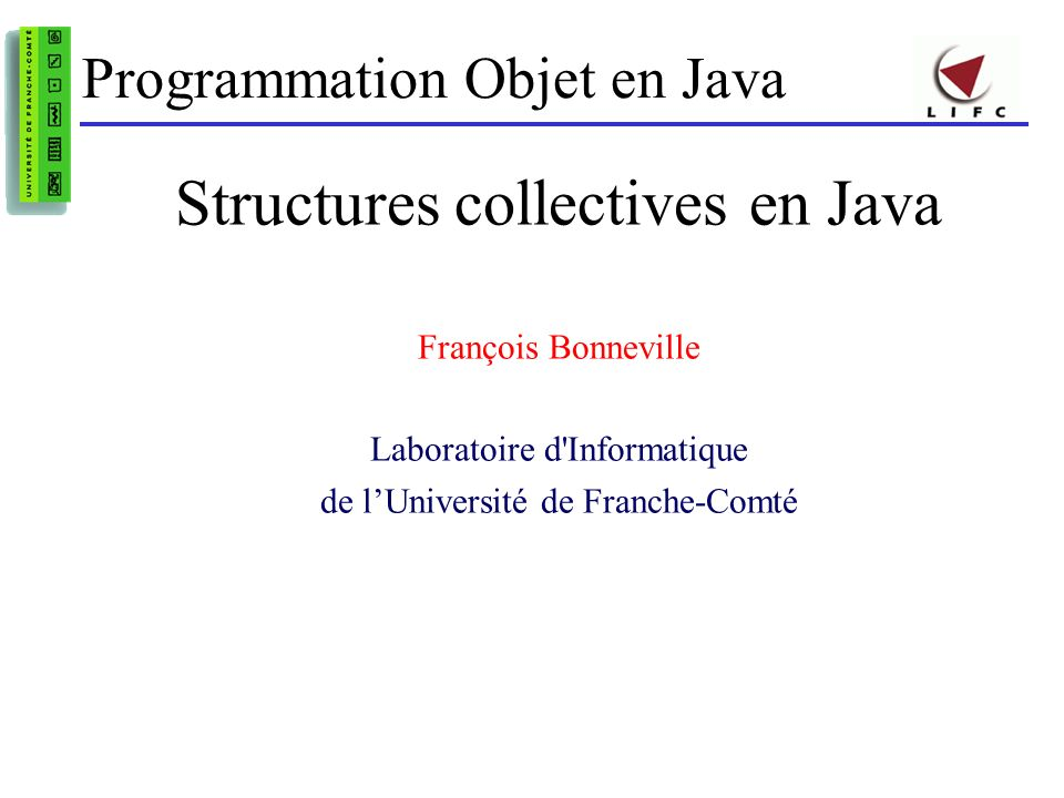Structures collectives en Java