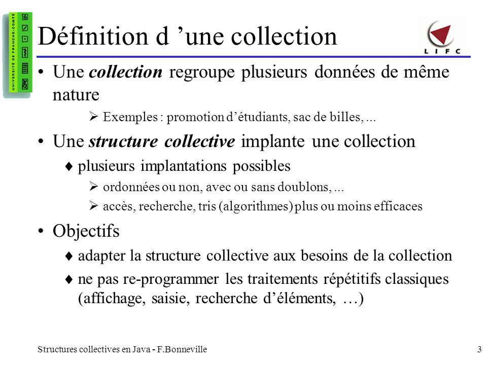 Définition d 'une collection