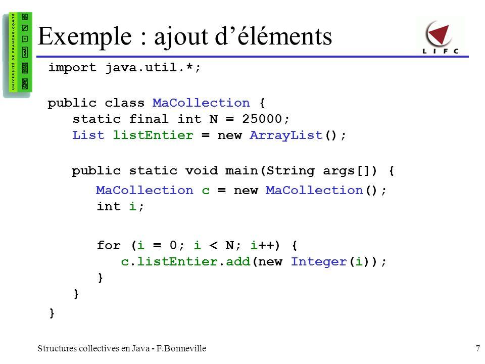 Exemple : ajout d'éléments