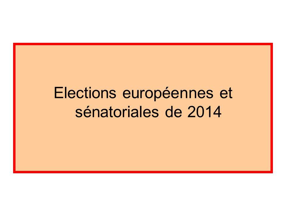 Elections européennes et sénatoriales de 2014