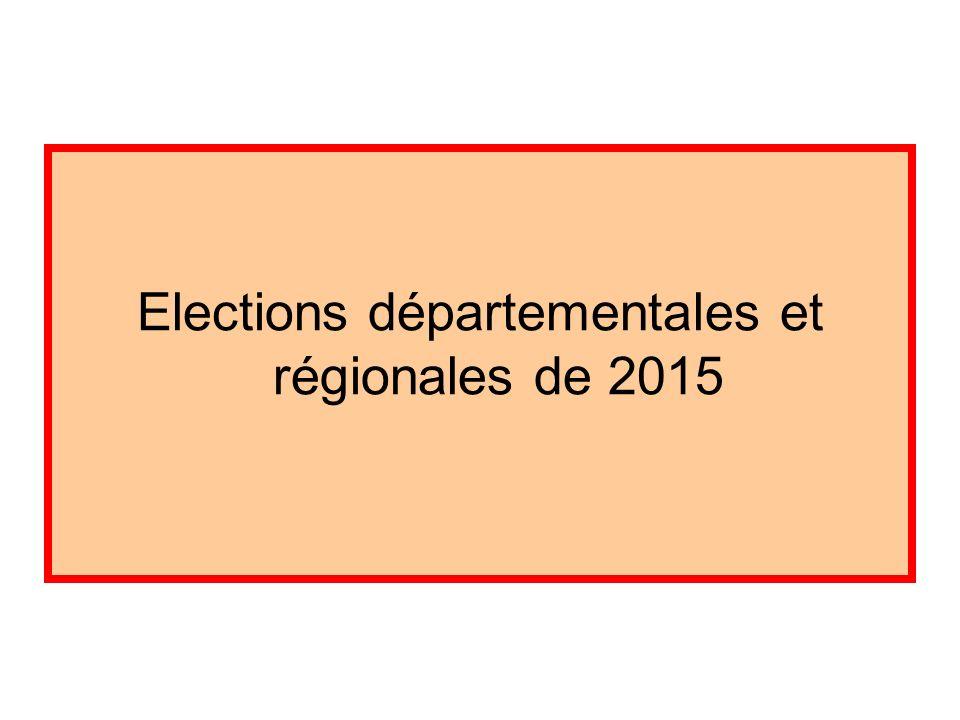 Elections départementales et régionales de 2015