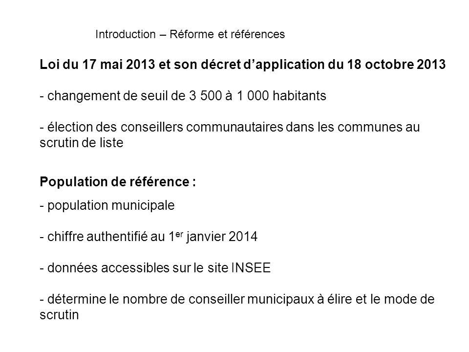 Loi du 17 mai 2013 et son décret d'application du 18 octobre 2013