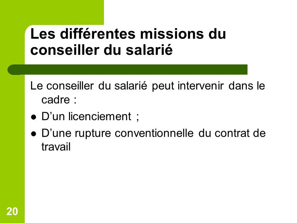 Les différentes missions du conseiller du salarié