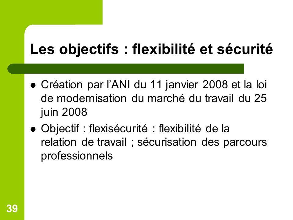 Les objectifs : flexibilité et sécurité