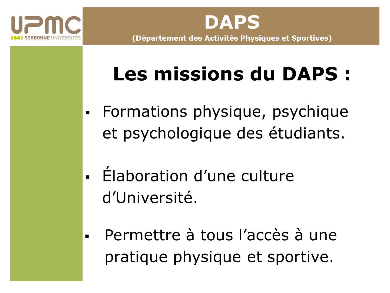 (Département des Activités Physiques et Sportives)