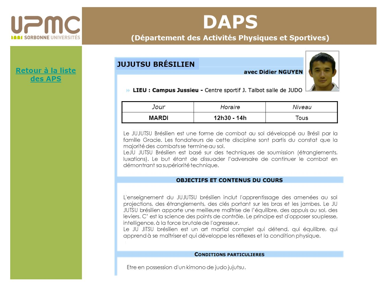 DAPS (Département des Activités Physiques et Sportives)