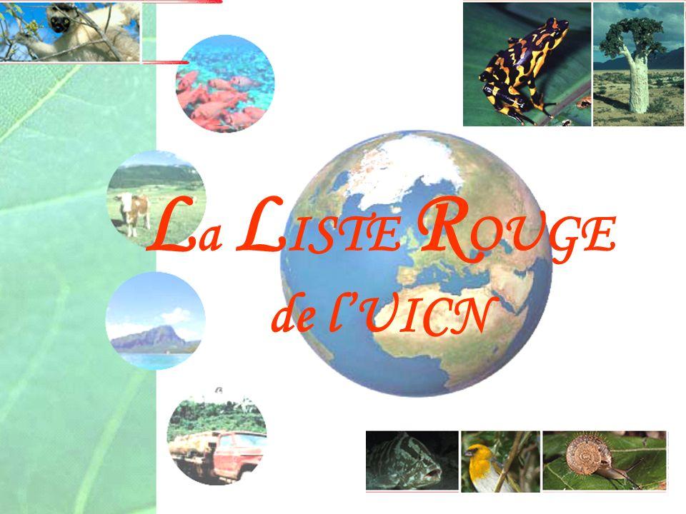 La LISTE ROUGE de l'UICN