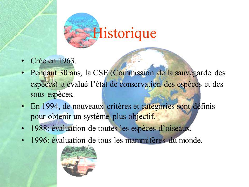 Historique Crée en 1963.