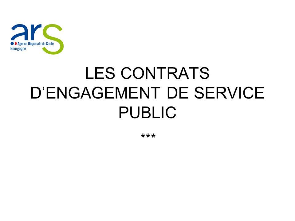 LES CONTRATS D'ENGAGEMENT DE SERVICE PUBLIC
