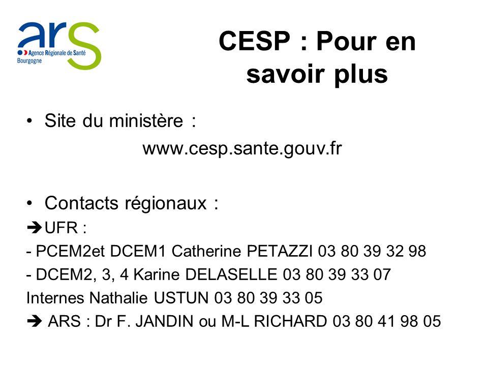 CESP : Pour en savoir plus