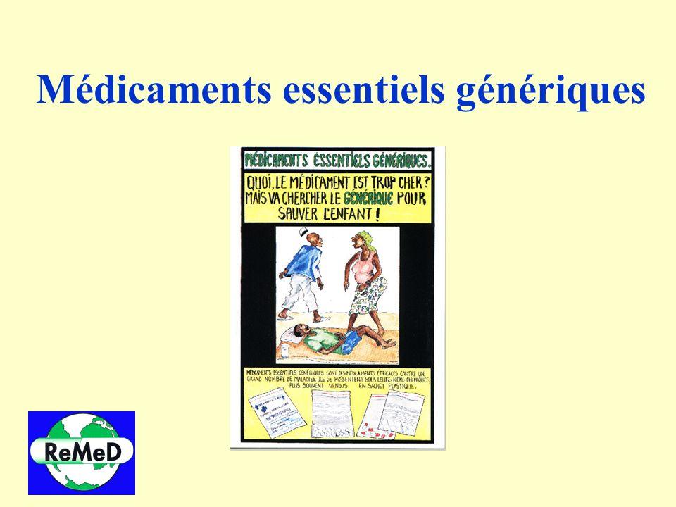 Médicaments essentiels génériques