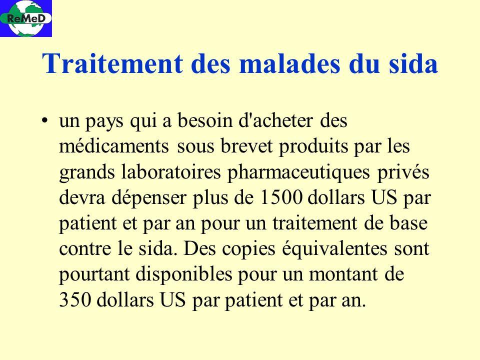 Traitement des malades du sida