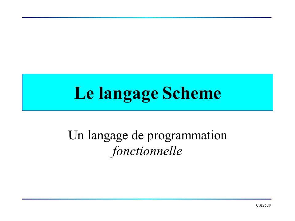 Un langage de programmation fonctionnelle