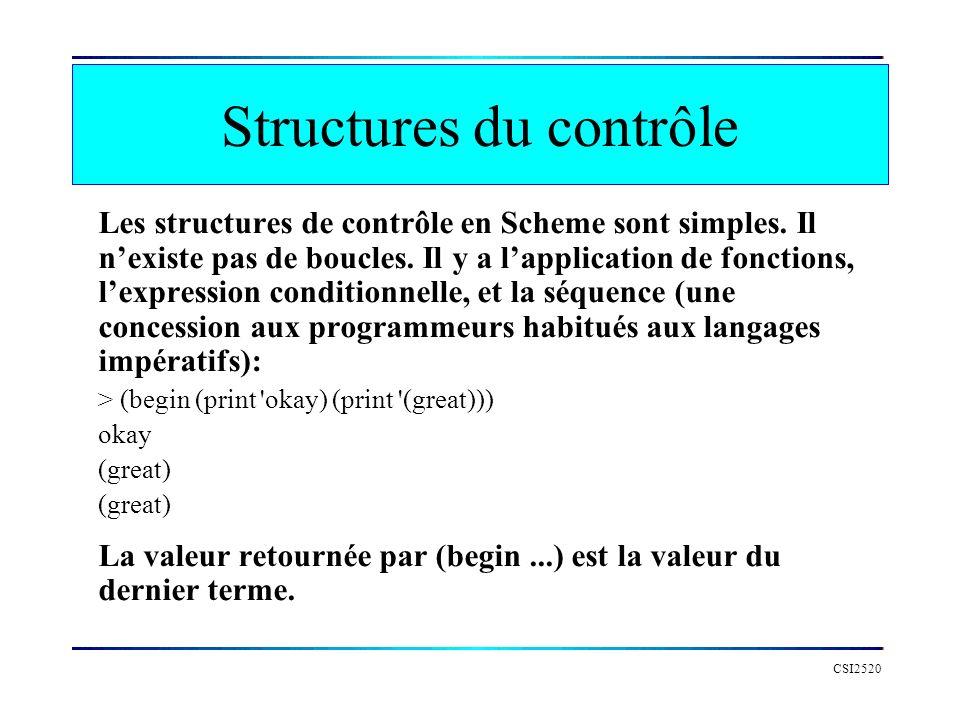 Structures du contrôle