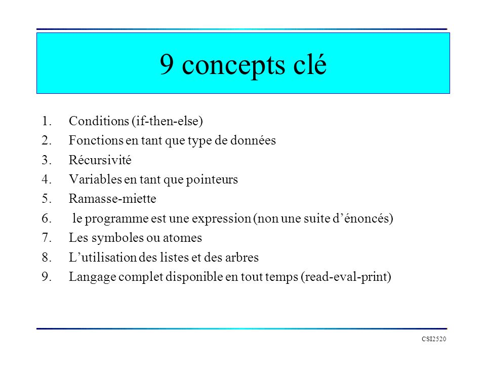 9 concepts clé Conditions (if-then-else)