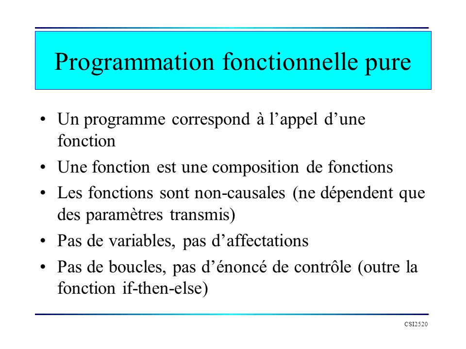 Programmation fonctionnelle pure
