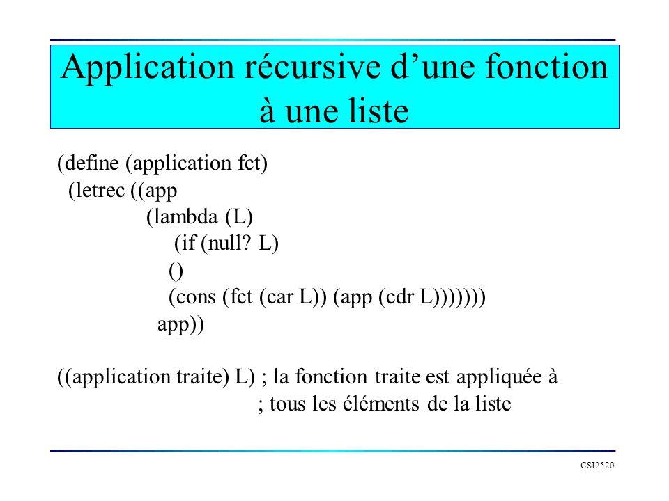Application récursive d'une fonction à une liste