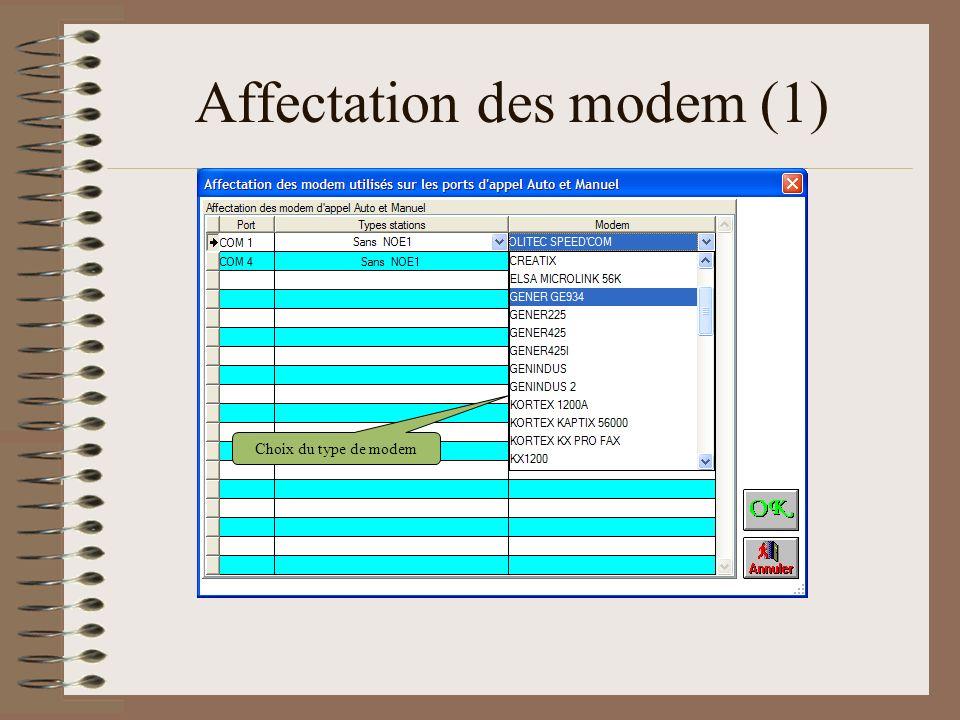 Affectation des modem (1)