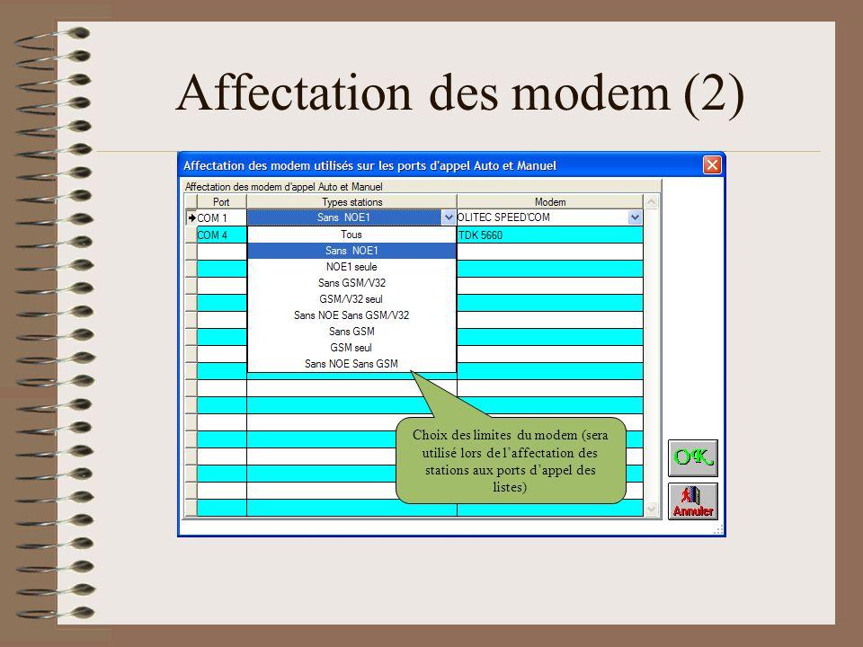 Affectation des modem (2)