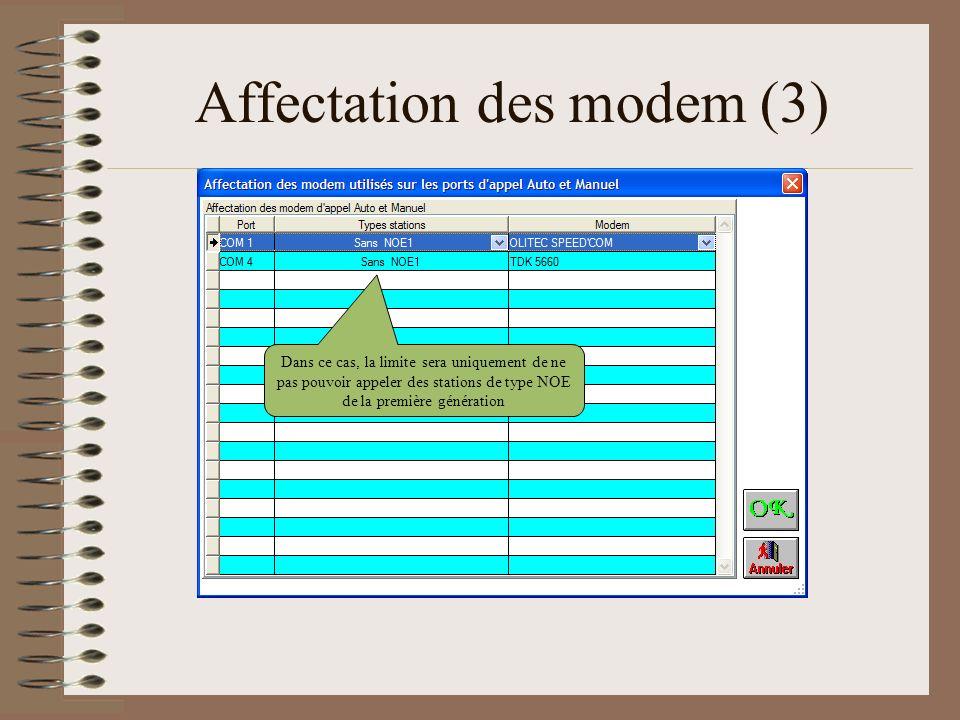 Affectation des modem (3)