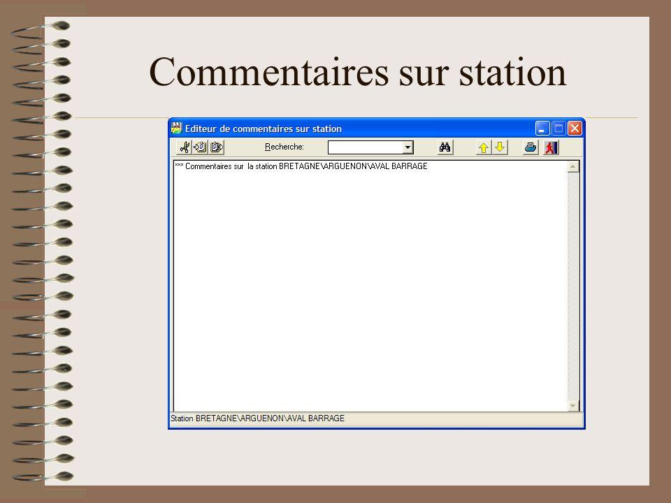 Commentaires sur station