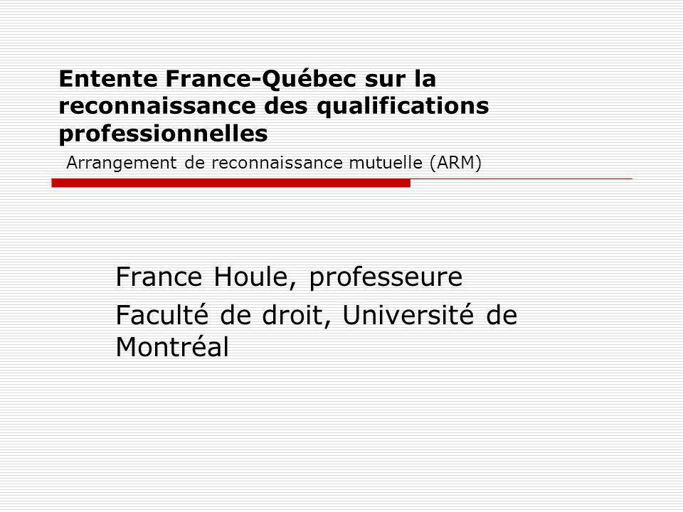 France Houle, professeure Faculté de droit, Université de Montréal