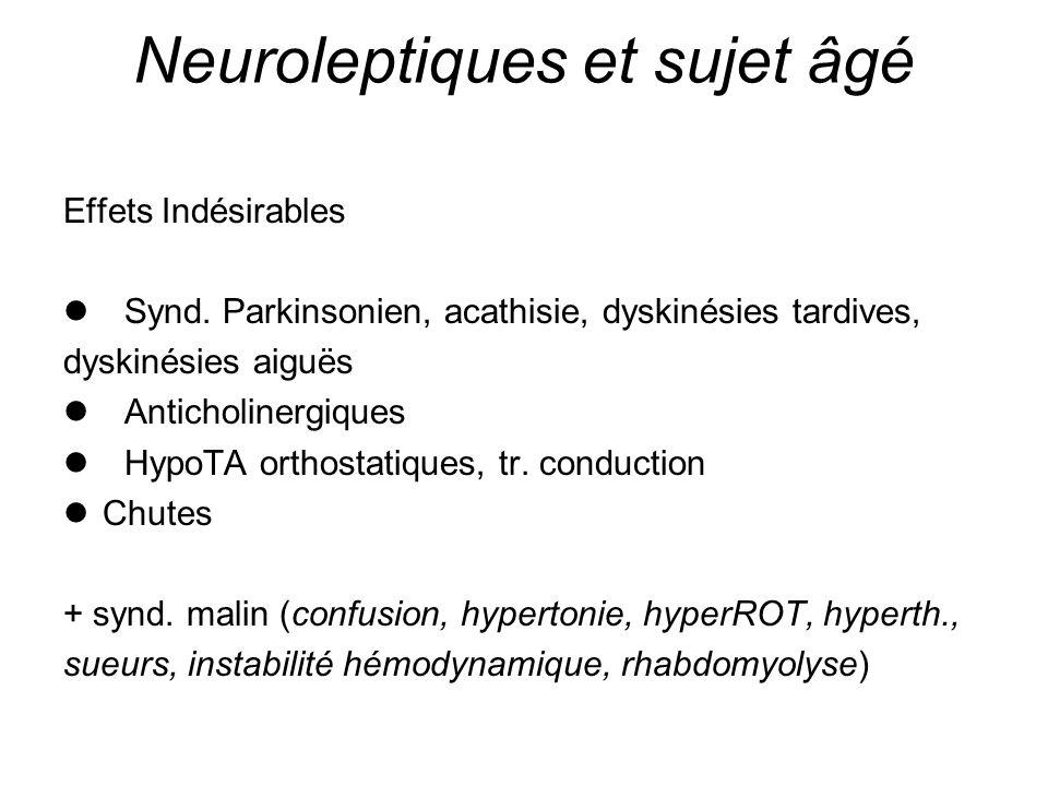 Neuroleptiques et sujet âgé