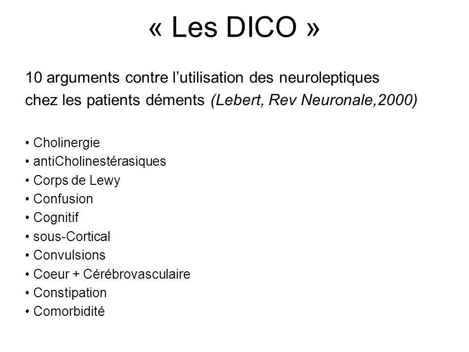 « Les DICO » 10 arguments contre l'utilisation des neuroleptiques