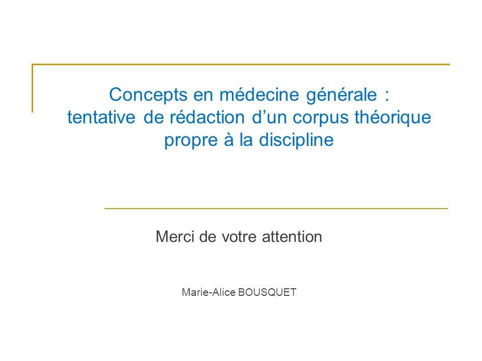 Merci de votre attention Marie-Alice BOUSQUET