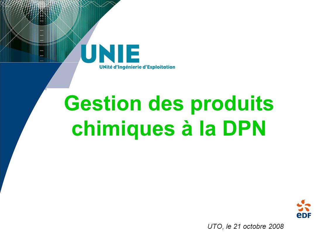 Gestion des produits chimiques à la DPN