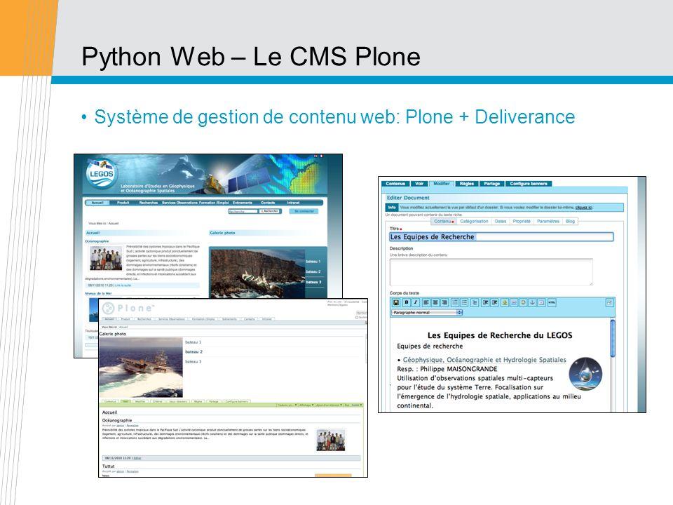 Python Web – Le CMS Plone